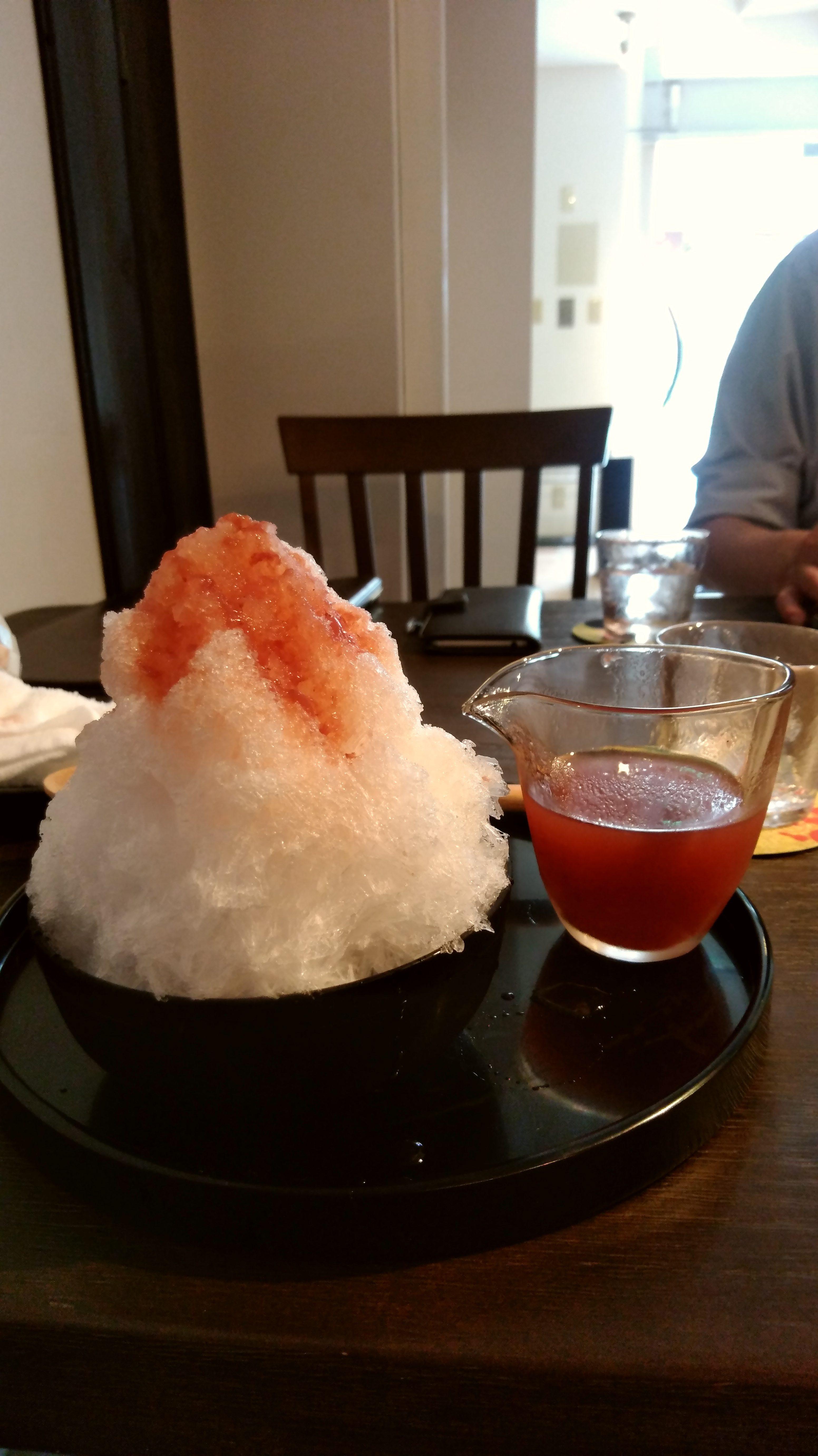 八ヶ岳のかき氷がめちゃ美味しい