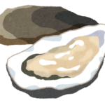 生牡蠣を見ると、旦那がニヤリとする